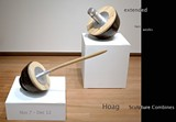 """PHOTO: JOE ZIOLKOWSKI - Exhibition card showing artworks, """"Punctuate"""" and """"Pop It."""""""