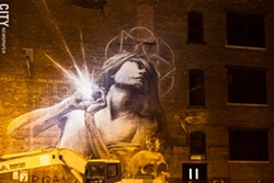 Faith47's mural on the Michael Stern building. - FILE PHOTO