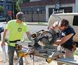 Flower City Habitat Young Professionals activities include on-site construction. - PHOTO PROVIDED