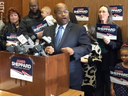 Former Rochester Police Chief James Sheppard announced his bid for County Legislature today. - PHOTO BY CHRISTINE CARRIE FIEN