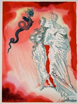 "PHOTO PROVIDED - ""Fraud,"" one of 100 woodcut prints in ""Salvador Dali: Dante's 'Divine Comedy,'"" currently on view at the Tower Fine Arts Center at SUNY Brockport."