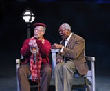 "PHOTO BY DAN HOWELL - Fred Nuernberg and Reuben J. Tapp appear in the Blackfriars Theatre production of ""I'm Not Rappaport."""