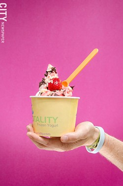 Frozen yogurt's growing popularity has led to several new shops opening in the area, including Yotality in Pittsford. - PHOTO BY MARK CHAMBERLIN