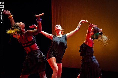 """FuturPointe performs """"Psychopomp and Pageantry"""" during the 2013 Rochester Fringe Festival. - Photo by MARK CHAMBERLIN"""
