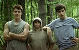 "PHOTO COURTESY CBS FILMS - Gabriel Basso, Moises Arias, and Nick Robinson in ""The Kings of Summer."""