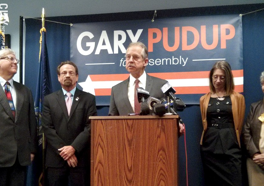 Gary Pudup announced his candidacy for the 134th Assembly District, which covers Greece, Ogden, and Parma. - PHOTO BY JEREMY MOULE