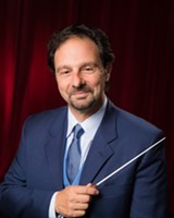 PHOTO PROVIDED - Gerard Floriano, the Rochester Chamber Orchestra's new artistic director, conducted the group during its 2014-15 season opener, Sunday evening. The RCO paid tribute to mezzo-soprano Jan DeGaetani.
