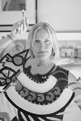 PHOTO BY GARY VENTURA - Go outside the lines: Tracie Doerner teaches decorative painting.