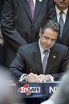 Gov. Cuomo was in Rochester for a ceremonial signing of New York's new gun legislation.