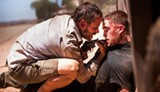 "PHOTO COURTESY A24 - Guy Pearce and Robert Pattinson in ""The Rover."""