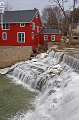 FILE PHOTO - Honeoye Creek in Honeoye Falls.