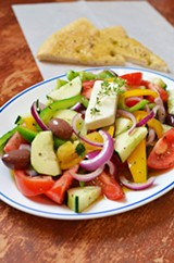 PHOTO BY MATT DETURCK - Horitaki salad from Voula's Greek Sweets.
