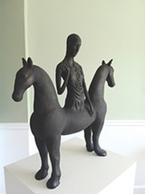 "PHOTO PROVIDED - ""Horse Goddess"" by ceramic artist, Robin Whiteman, whose work will be featured as part of Rochester Contemporary's ""Makers and Mentors"" exhibition in February."