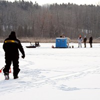 Ice Fishing  PHOTO BY KATHY LALUK