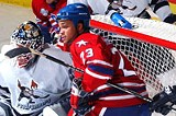 20 TOE PHOTO - Im McMorrow. Amerks enforcer Sean McMorrow having just another day at the office.