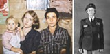 """PHOTOS COURTESY GEORGE EASTMAN HOUSE - Images from """"The Gender Show,"""" currently on view at George Eastman House. Left: An image from Debbie Grossman's """"My Pie Town"""" series. Right: Anne Noggle's portrait of Lois Hollingsworth Zilner, a woman Army Air Corps. Pilot from WWII."""