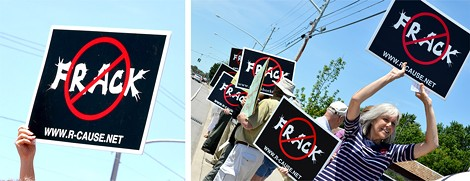 In August 2012, a contingent of fracking opponents from the Rochester area traveled to a large protest in Washington D.C. - FILE PHOTOS