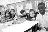 PHOTO KURT BROWNELL - In class last spring: students at Rochesters innovative Childrens School.