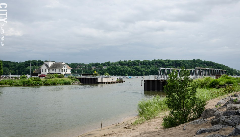 Irondequoit and Webster officials say that they would like to find a long-term alternative to the Irondequoit Bay swing bridge, which is closed to vehicles for part of the year. - PHOTO BY MARK CHAMBERLIN
