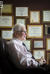 PHOTO BY MARK CHAMBERLIN - It would be a mistake to stop giving men of a certain age the PSA test, which helps detect prostate cancer, says Dr. Edward Messing, chair of the University of Rochester Medical Center's Department of Urology.