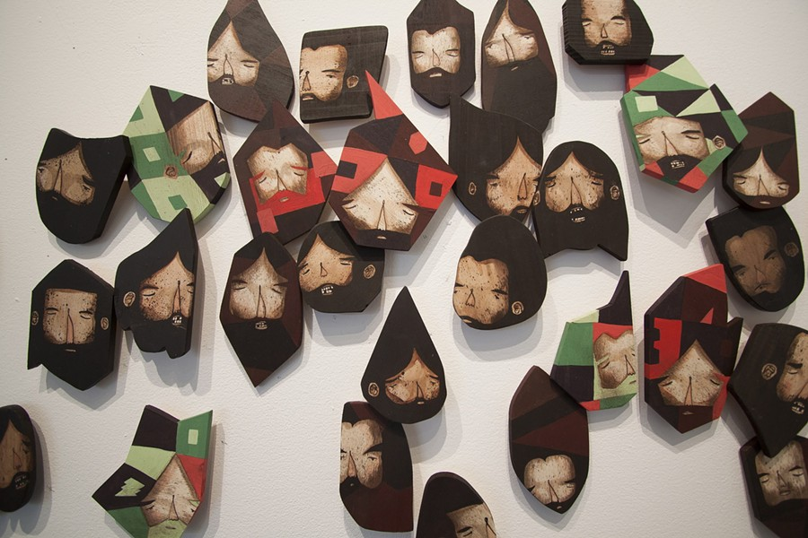 """Jaime Molina's """"Cutty Heads"""" is currently showing in 1975 Gallery's exhibition """"Vulnerable Geometry."""" - PHOTO PROVIDED"""