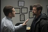 "PHOTO COURTESY WARNER BROS. PICTURES - Jake Gyllenhaal and Hugh Jackman in ""Prisoners."""
