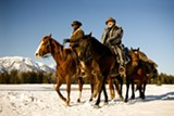 "Jamie Foxx and Christoph Waltz in ""Django Unchained."" PHOTO COURTESY THE WEINSTEIN CO."