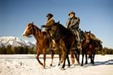 "Jamie Foxx and Christoph Waltz in ""Django Unchained."" PHOTO COURTESY THE WEINSTEIN CO."