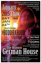 January THAW Concert at Historic German House Theater Sat., 24th, 2015
