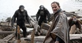 """PHOTO COURTESY TWENTIETH CENTURY FOX - Jason Clarke and some damn dirty apes from """"Dawn of the Planet of the Apes."""""""
