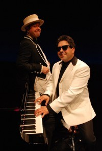"""Joel Mason and David James in """"The Tribute,"""" currently on stage at Geva Theatre. PHOTO BY DEREK MADONIA"""
