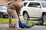 """PHOTO COURTESY PARAMOUNT PICTURES - Johnny Knoxville and Jackson Nicoll in """"Bad Grandpa."""""""