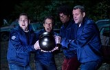 "Jonah Hill, Ben Stiller, Richard Ayoade, and Vince Vaughn in ""The Watch."" PHOTO COURTESY 20TH CENTURY FOX"