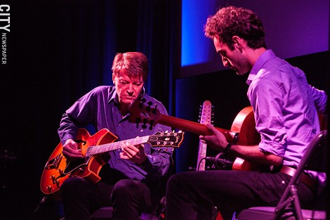 Julian Lage and Nels - Cline at the Little Theatre. - PHOTO BY JOHN SCHLIA
