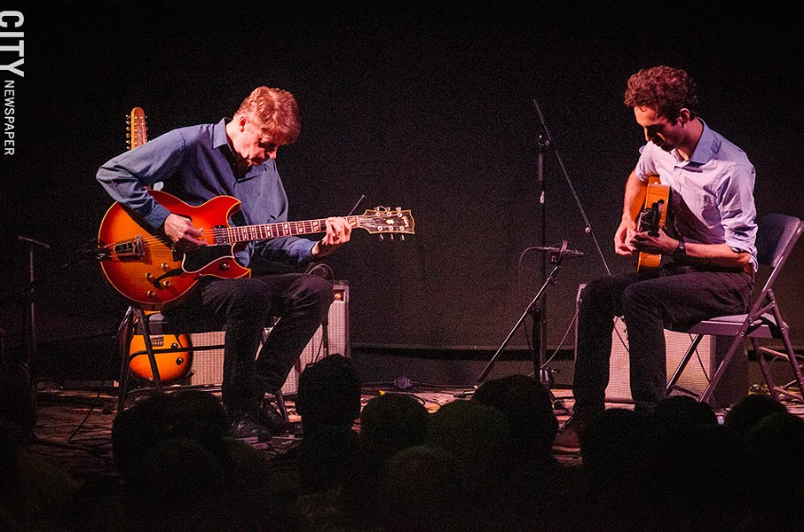 Julian Lage and Nels - Cline at the Little Theatre. - PHOTO BY MARK CHAMBERLIN