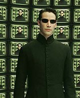 "WARNER BROS. PICTURES - Keanu's excrement adventure: Reeves in ""The Matrix: Reloaded."""