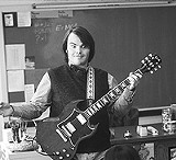 "PARAMOUNT PICTURES - Keeping things perky: manic Jack Black in ""School of Rock."""