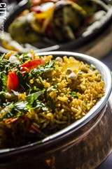 PHOTO BY MARK CHAMBERLIN - Lamb Biryani from Raj Mahal.