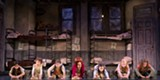 "PHOTO BY JOAN MARCUS - (Left to right) Isabel Wallach as Duffy, Lilly Mae Stewart as Molly, Lilly Bea Ireland as - Tessie, Issie Swickle as Annie, Angelina Carballo as July, Sydney Shuck as Kate and - Adia Dant as Pepper in ""It's The Hard Knock Life"""