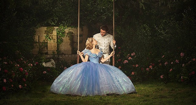 "Lily James and Richard Madden in ""Cinderella."""