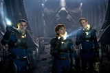 "Logan Marshall-Green, Noomi Rapace, and Michael Fassbender (left to right) in ""Prometheus."" PHOTO COURTESY 20TH CENTURY FOX"