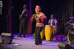 Lorraine Klaasen at the Xerox Auditorium. - PHOTO BY MARK CHAMBERLIN