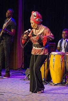 Lorraine Klaasen at the Xerox Auditorium.