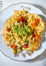 PHOTO BY MARK CHAMBERLIN - Mac & cheese nachos from The Red Fern.