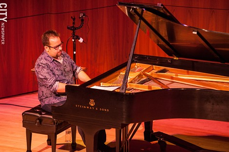 Manuel Valera performed at Hatch Recital Hall. - PHOTO BY JOHN SCHLIA
