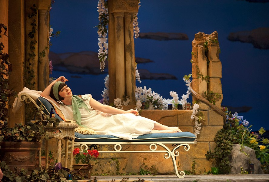 Marla McLean as Caroline Bramble in Enchanted April. PHOTO BY EMILY COOPER