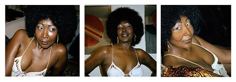 Mickalene Thomas (American, b. 1971). Lounging, Standing, Looking, 2012. Three chromogenic development prints. Courtesy of the artist, Lehmann Maupin, New York & Hong Kong, and Artists Rights Society (ARS), New York. © Mickalene Thomas - PHOTO PROVIDED