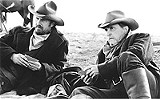 "TOUCHSTONE PICTURES - Monosyllabic philosophers: Kevin Costner and Robert Duvall in ""Open Range."""