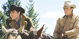 FOCUS FEATURES - Mostly images and silence: Jake Gyllenhaal and Heath Ledger in Brokeback Mountain.