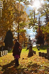 PHOTO BY MATT DETURCK - Mount Hope Cemetery is home to a variety of themed walks each fall.